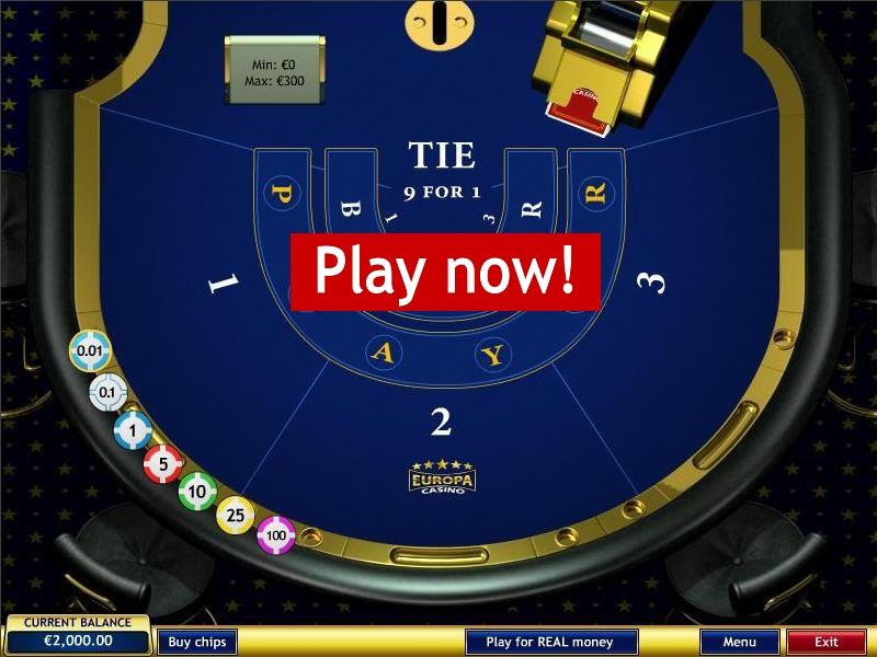 Europa Casino Baccarat